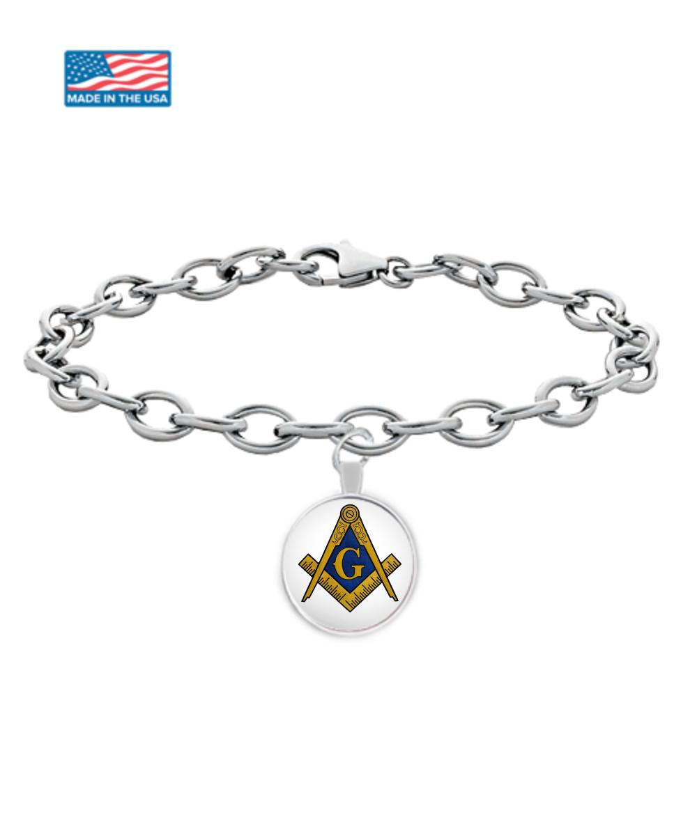Freemason symbol bracelet  Lodge gift for masonic Brother
