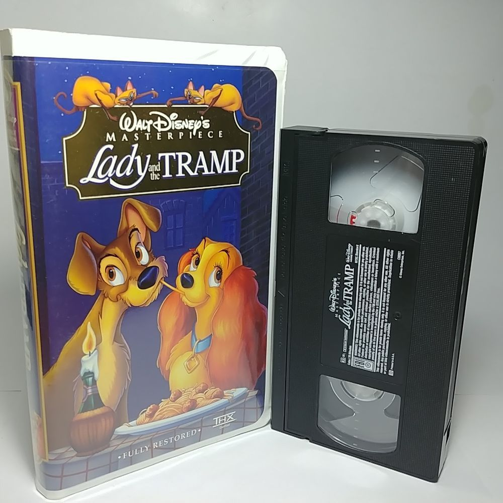 Lady And The Tramp Vhs Tape 1998 Very Clean Original Clamshell Hard Case Lady And The Tramp Vhs Tapes Vhs