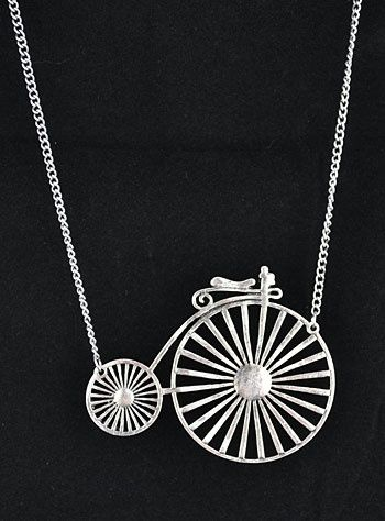 Penny Farthing Bicycle Necklace.