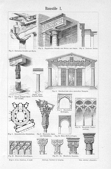 antique architecture images | ARCHITECTURAL STYLES,1894 Antique Architectural…