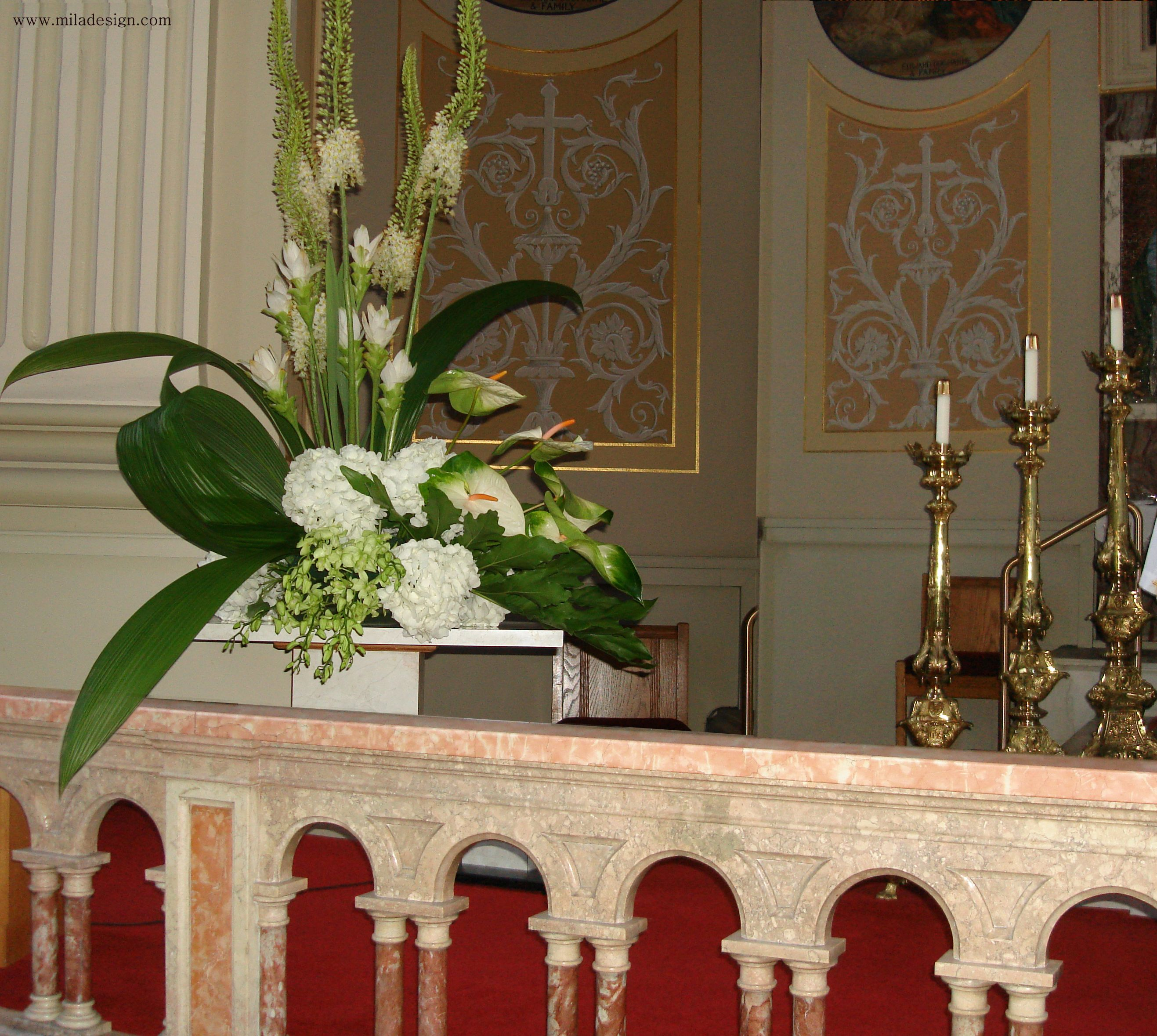 Altar flowers wedding arrangement wedding ceremony