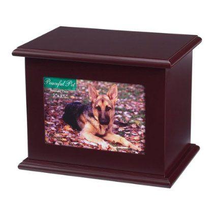 Amazon Com Peaceful Pet Memorial Keepsake Chest Large Mahogany Pet Supplies Pet Memorials Pet Keepsake Memorial Keepsakes