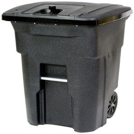Walmart Trash Cans Outdoor Gorgeous Toter 64Gallon Blackstone Outdoor Wheeled Trash Can 25B64R1Bks