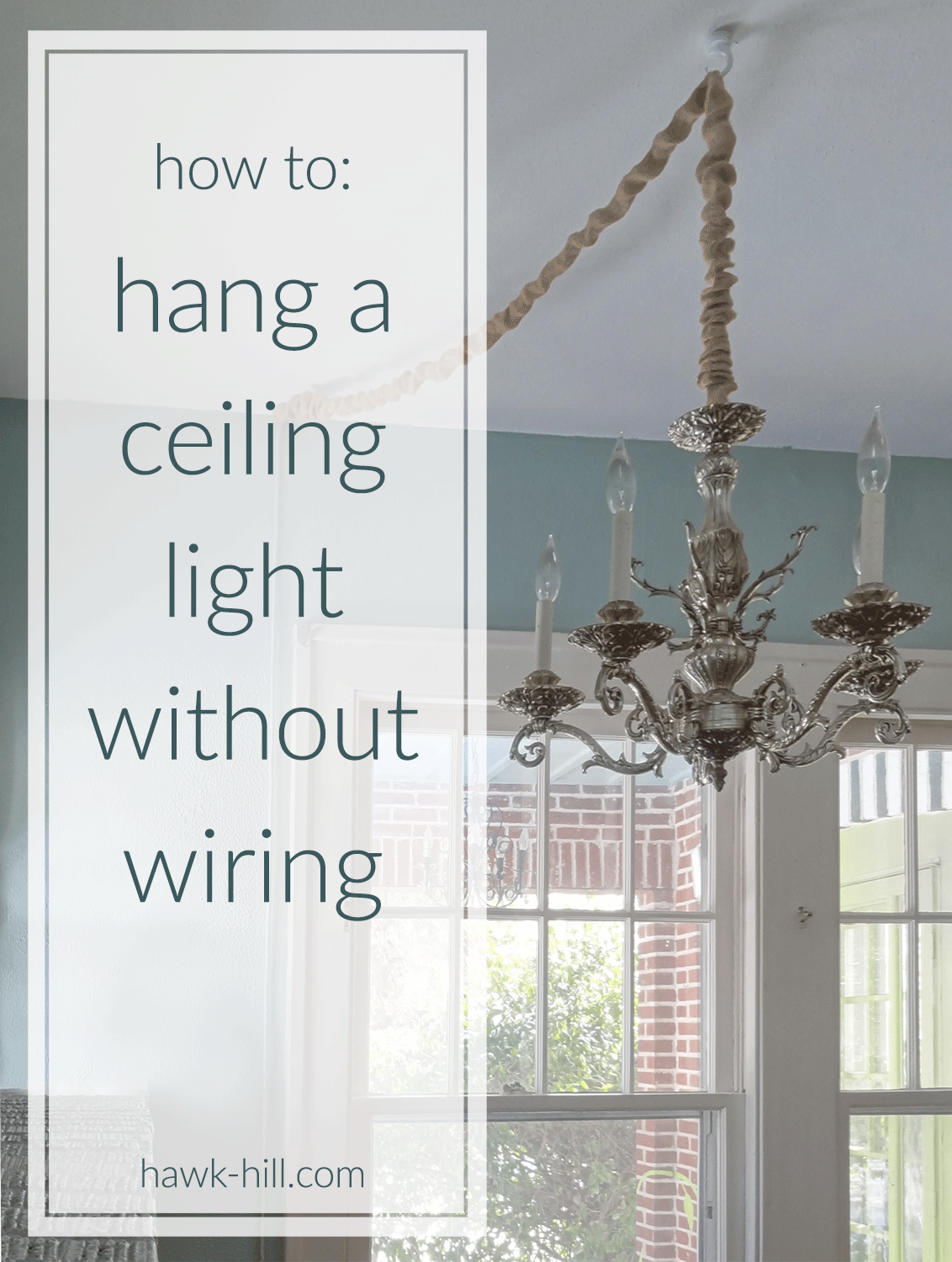 Instructions for hanging a ceiling light without ceiling wiring ...