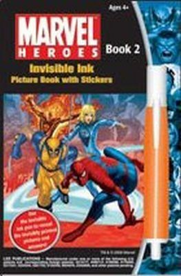 Amazon.com: MARVEL Heroes Invisible Ink Picture Book with Stickers by Lee Publications: Toys & Games