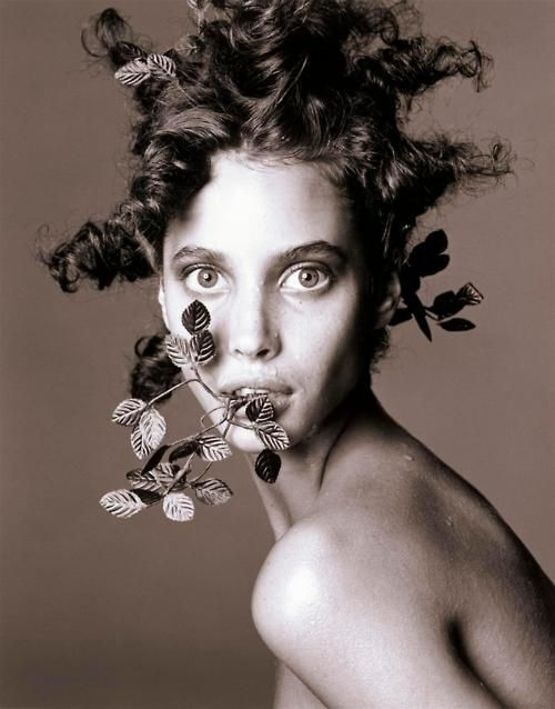 Christy Turlington by Steven Meisel, 1986 -- Must try something like the hair for the upcoming workshop I'm attending!