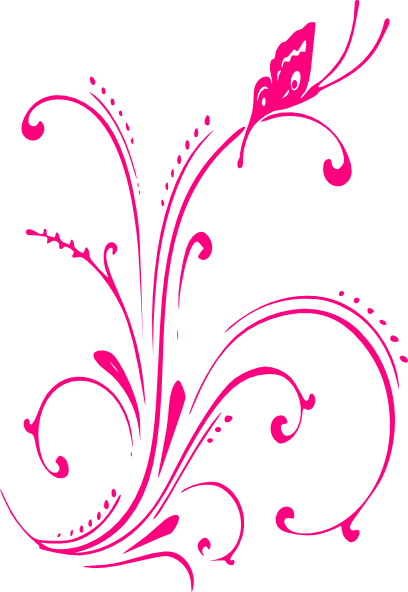 Butterfly outline pink. Clip art scroll ideas