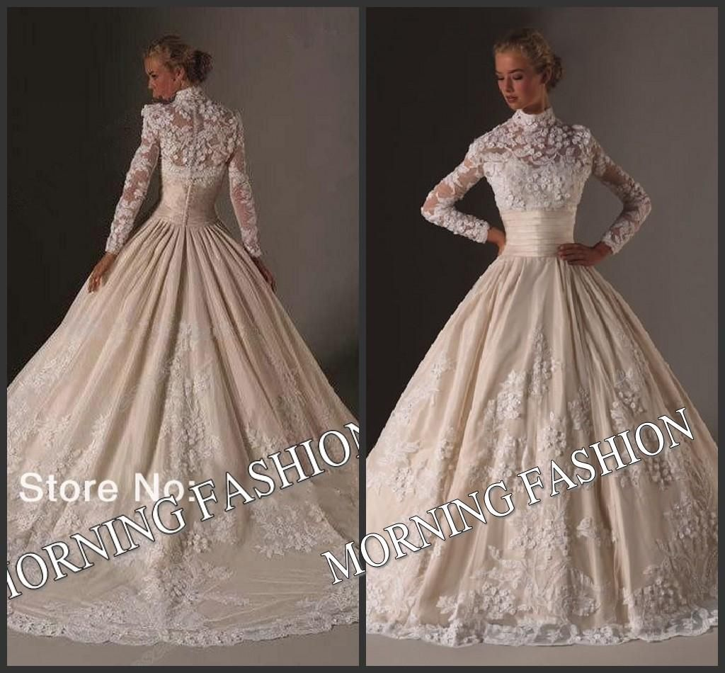 Morning fashion bridal dress long sleeve muslim wedding dress new