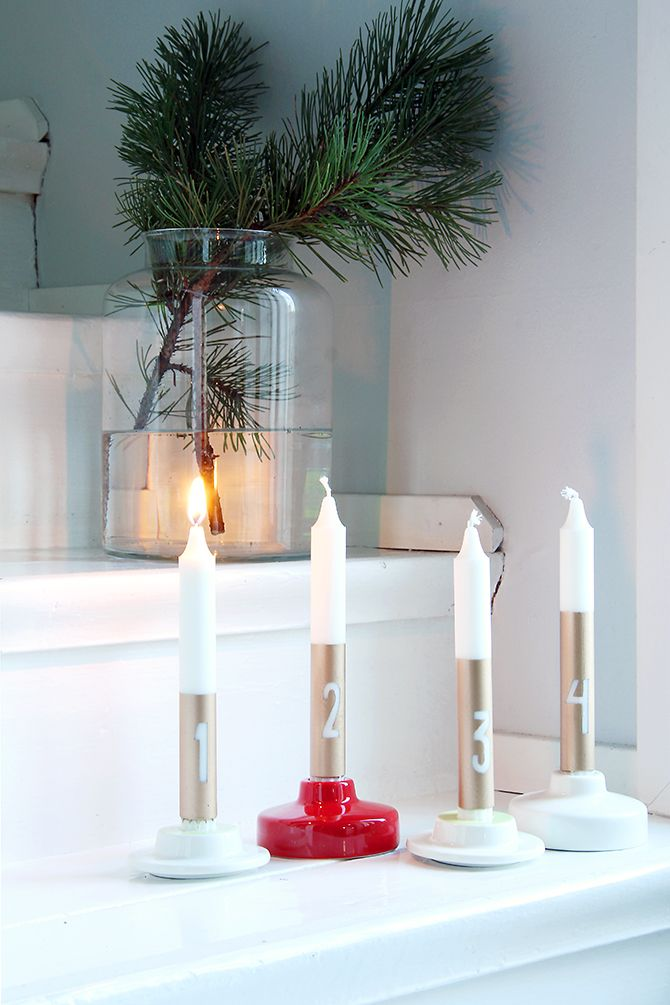 My late advent candels DIY