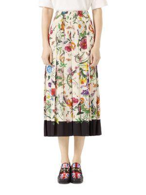 234123fe5b Gucci - Flora Snake Silk Skirt | Fabric & Patterns | Silk skirt ...