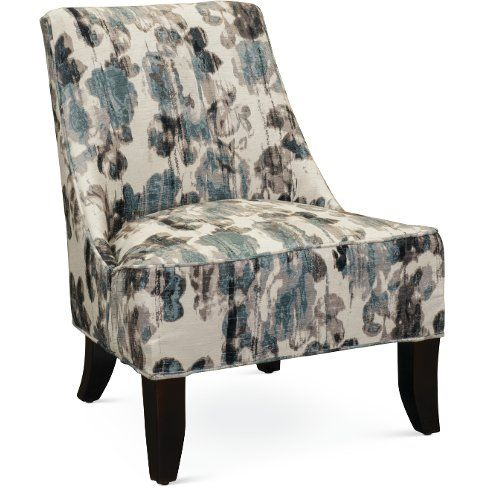 Best Armless Cream And Aqua Accent Chair Diana In 2020 400 x 300