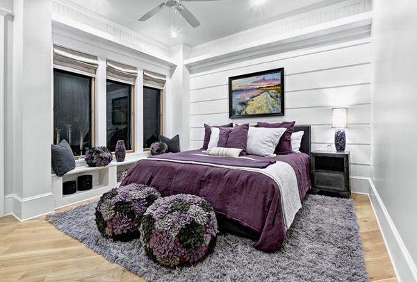 chambre noir blanc et violet