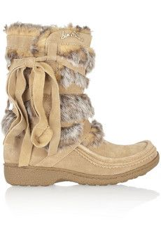 b6a0deafe Sam Edelman Meiko suede and faux fur boots