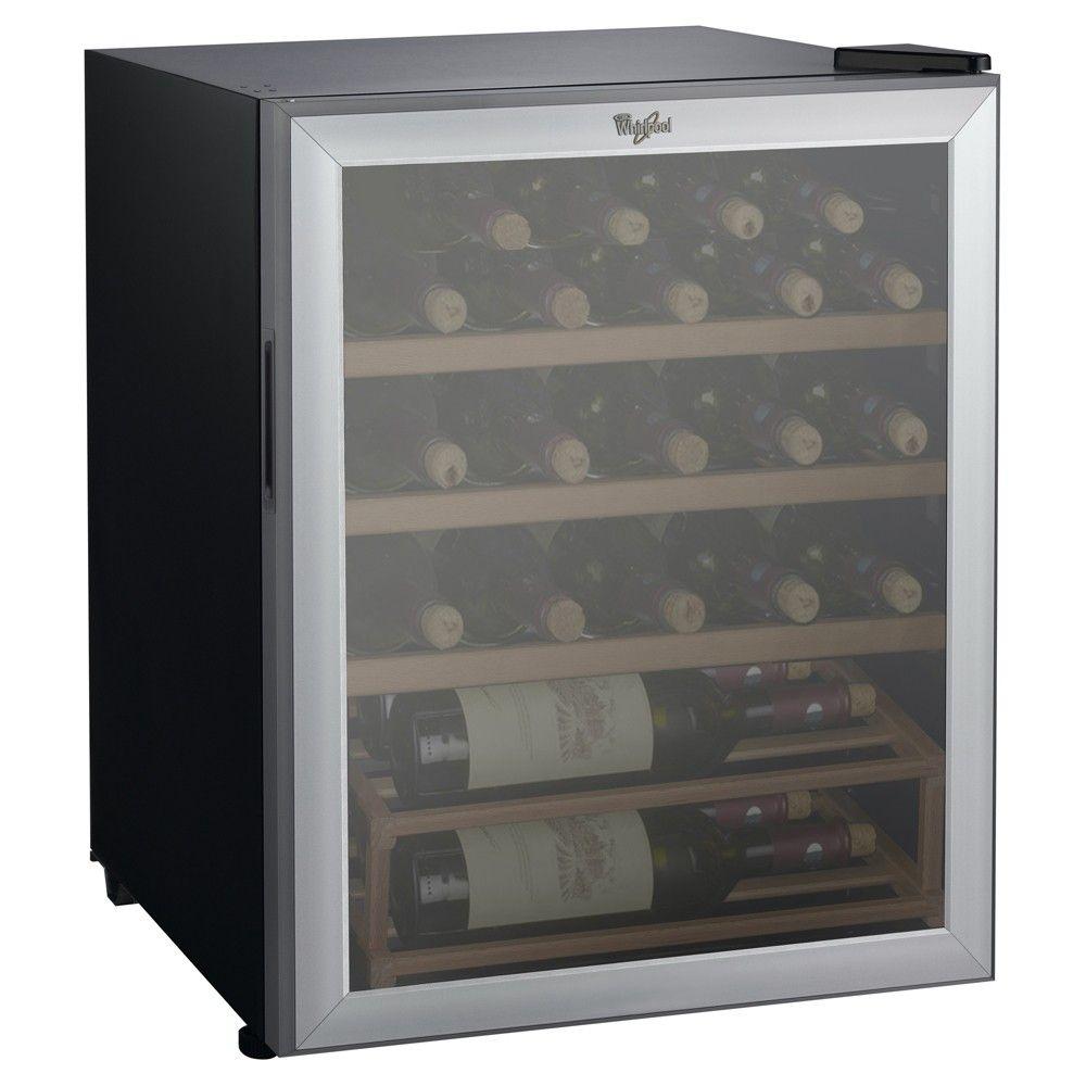 Whirlpool 25 Bottle 2 7 Cu Ft Wine Fridge Stainless Steel Jc 75z