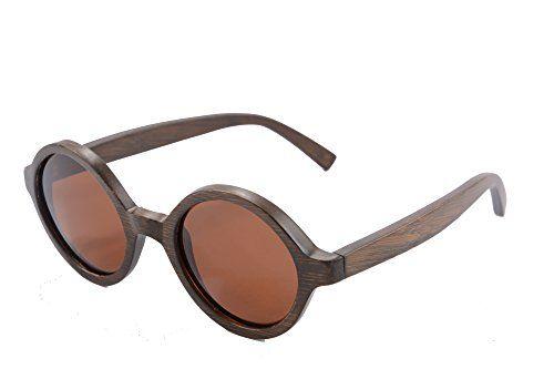 07e4ed8269d Retro Horn Rimmed Sunglasses Wood Bamboo Frame Glasses Flash Mirror Lenses  UV400Z6019bamboo brownbrown