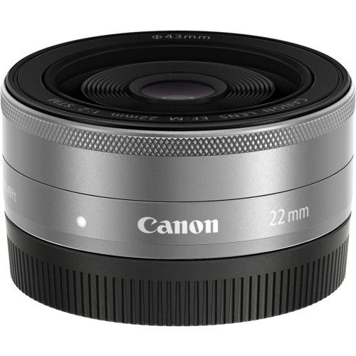 Canon Ef M 22mm F 2 Stm Wide Angle Lens Silver 9808b002 Best Buy Canon Ef Wide Angle Lens Canon Lens
