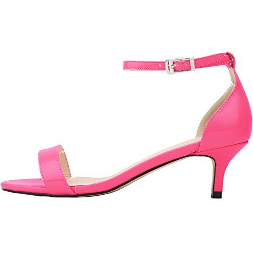 Zbeibei Women's PU Patent Leather Mid Heels Open Toe Summer Shoes Buckle Up Sandals(ZBB1051PA42,rose) - http://all-shoes-online.com/zbeibei/10-b-m-us-zbeibei-womens-thin-mid-heels-open-toe-up-33
