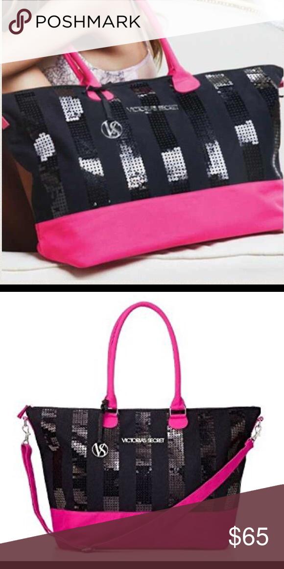 Victoria S Secret Limited Edition Weekender Bag In 2020 Weekender Bag Sequin Bag Victoria Secret