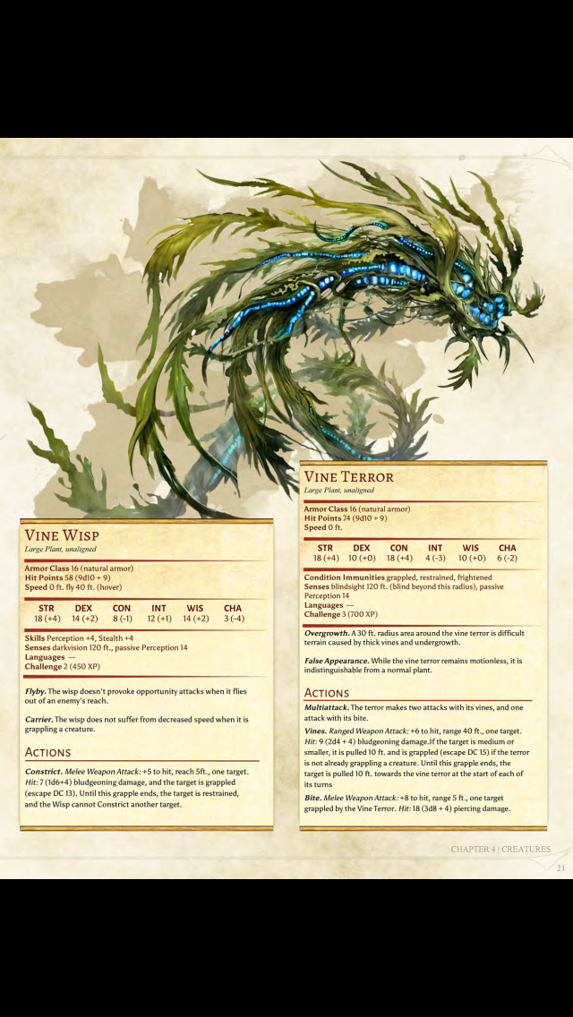 Vine Monsters Dnd Monsters D D Dungeons And Dragons Dungeons And Dragons Homebrew