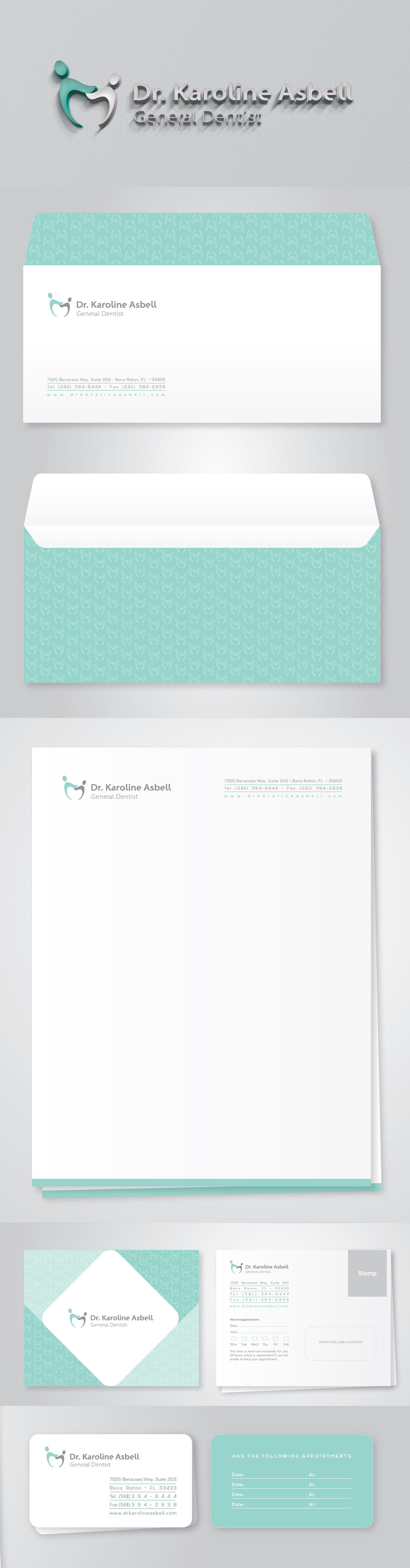 Logotipo e papelaria - Consultório Dentário Logotype and Stationery ...