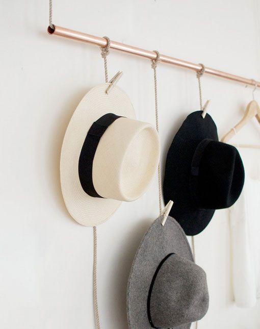 3d3f3eabc8064 Perchero de cobre para sombreros