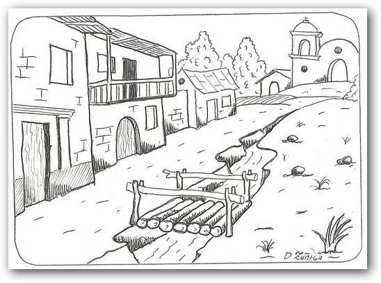 Dibujos para colorear paisajes | Fotos o Imágenes | Portadas para ...