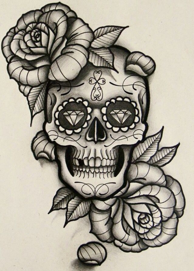 pin by gloria magallon on sugar skull tattoo sugar skull tattoo by gloria magallon pinterest. Black Bedroom Furniture Sets. Home Design Ideas