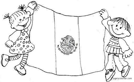Resultado De Imagen Para Mes Patrio Para Colorear Dia De La Bandera Historia De La Bandera Bandera Para Colorear