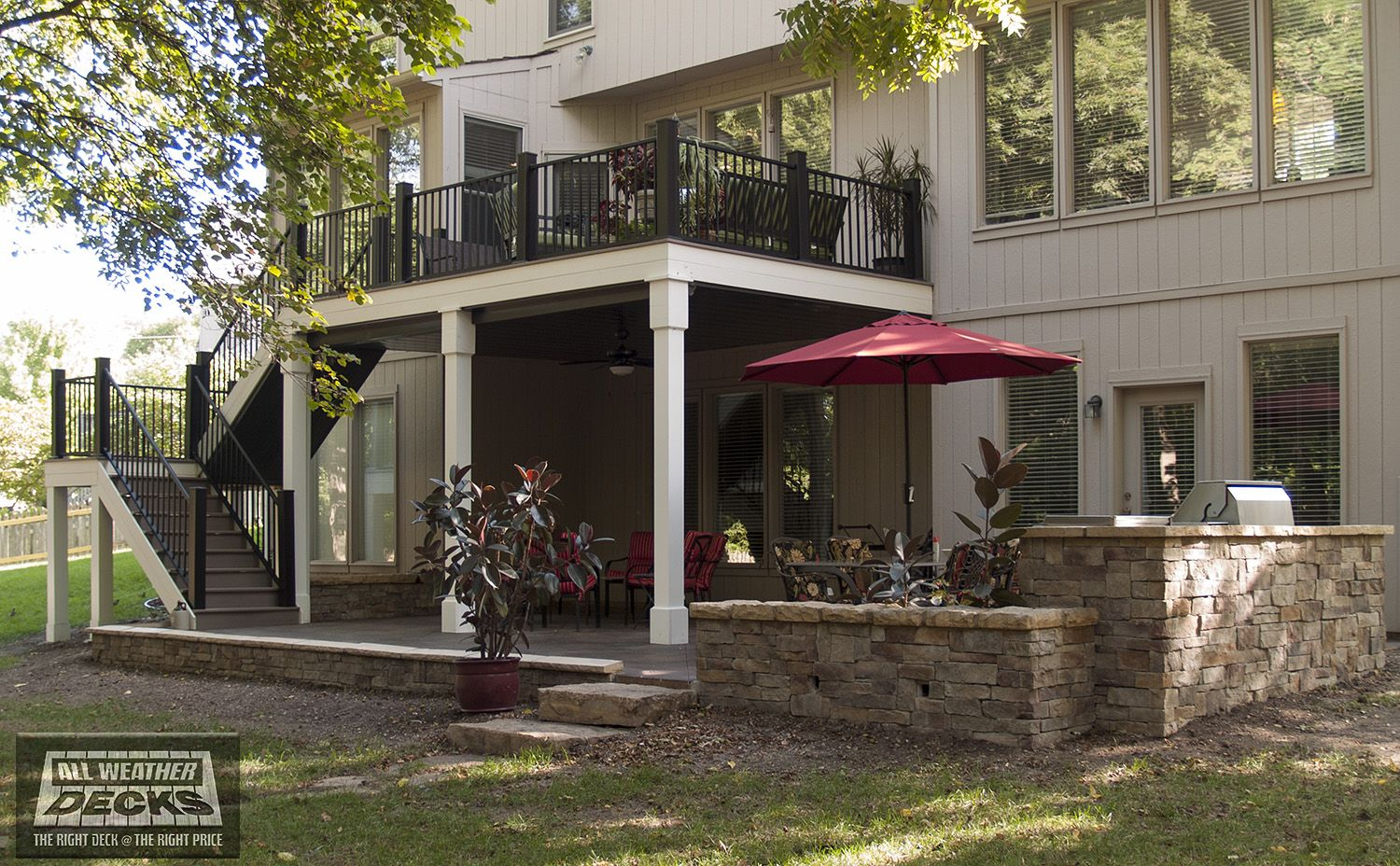 All weather decks voted 1 15 times on angie 39 s list for Under porch ideas