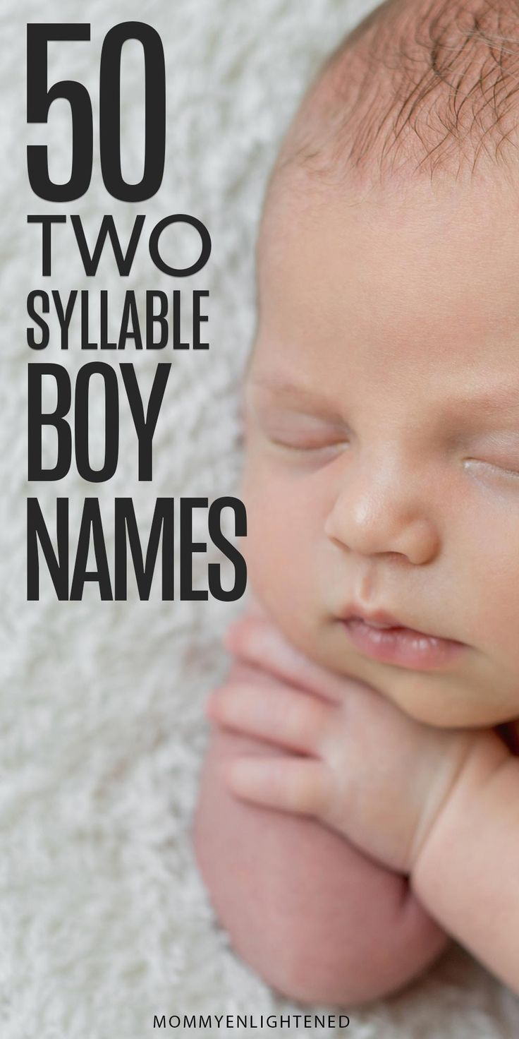 Handsome Two Syllable Boy Names (and meanings!)