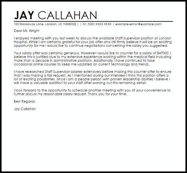 Counter Offer Letter Sample
