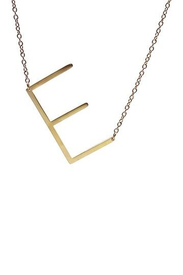 Savvy Cie | 14K Gold Plated XL Initial Necklace - Multiple Letters Available #nordstromrack