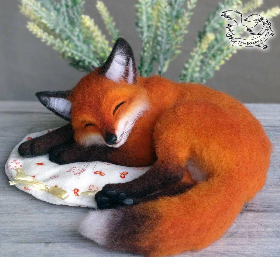 Needle Felted Fox by YuliaLeonovich #needlefeltedanimals