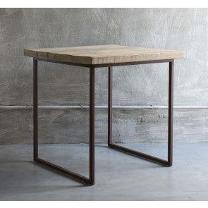Tavolo quadrato in legno di recupero e ferro brunito Luxe Lodge | MY ...