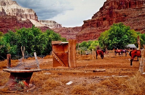 Supai Village Or Havasupai In Grand Canyon National Park Arizona