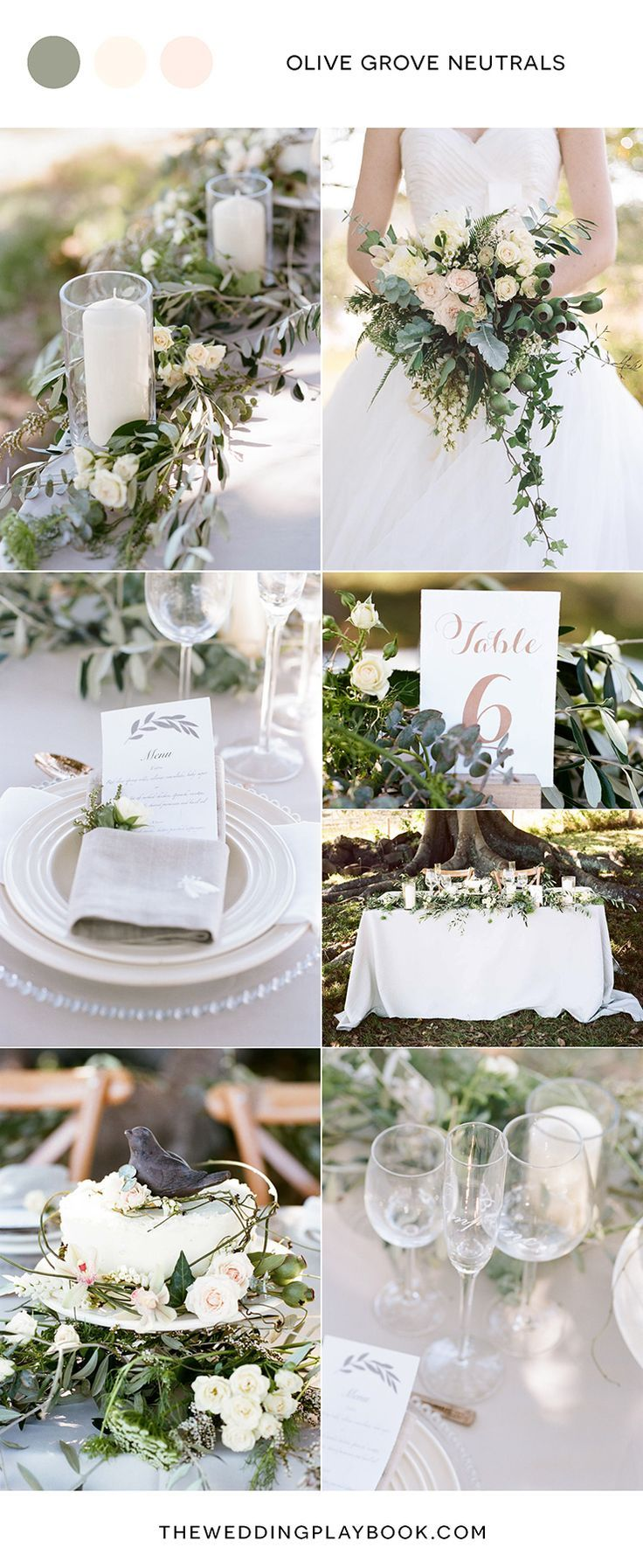 Olive Grove Wedding Inspiration in Soft Neutrals | Neutral and Weddings