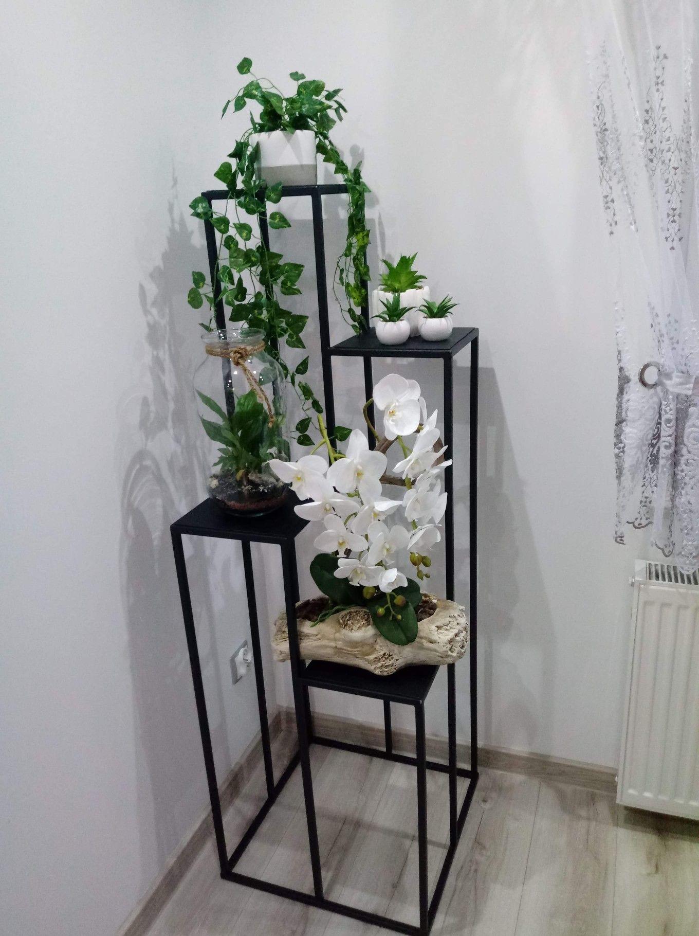 Stojak Na Kwiaty Kwietnik Metalowy 150 Cm Czarny Ladder Decor Home Decor Decor
