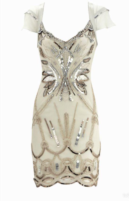 12a99a92d37 Karen Millen Diamante Dress Apricot