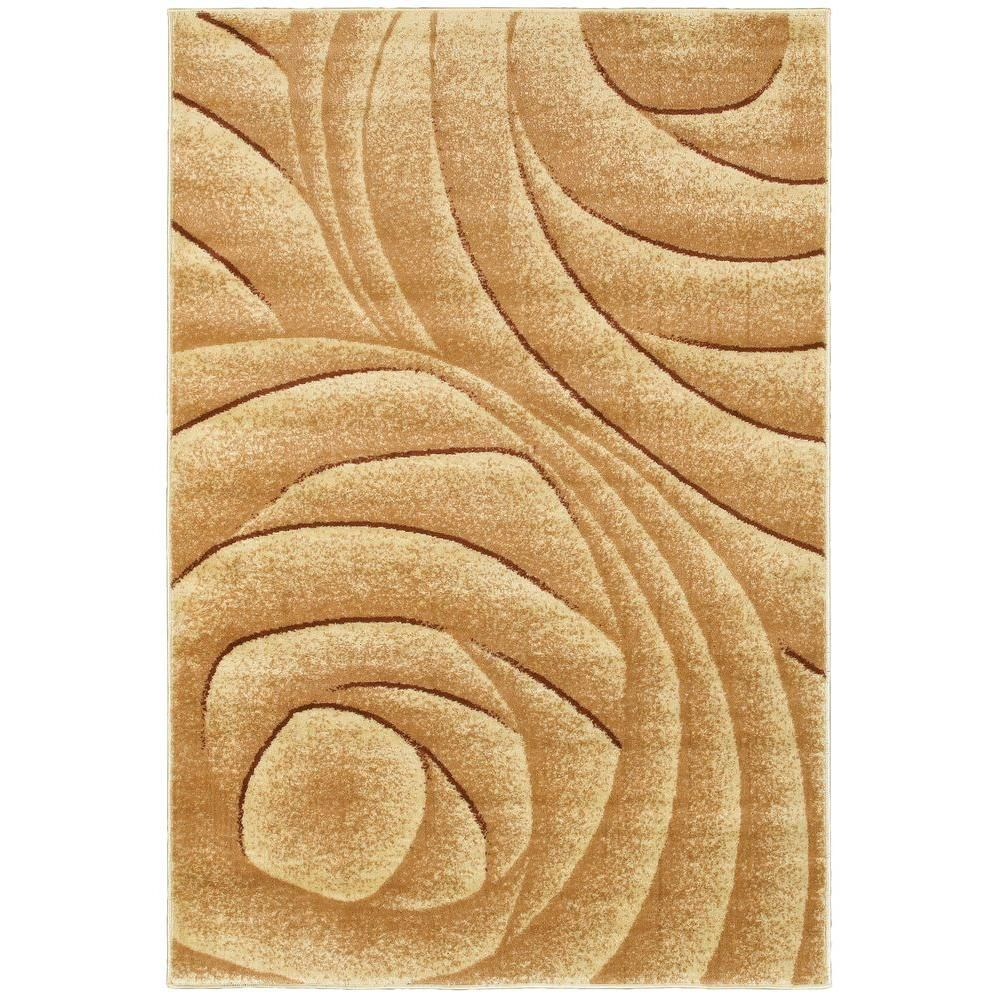 Grace Cream (Ivory) 3 ft. 6 in. x 5 ft. 6 in. Plush Indoor Area Rug