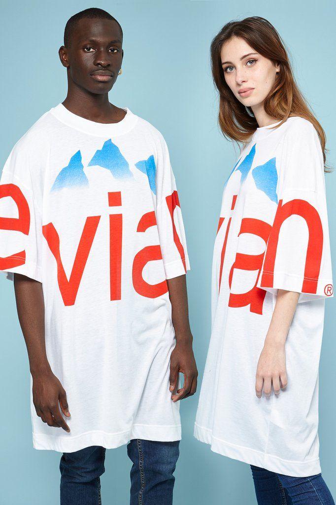 8000c38404e9 Rad x Evian® White Oversize T-shirt   Cloth Goals   Pinterest ...