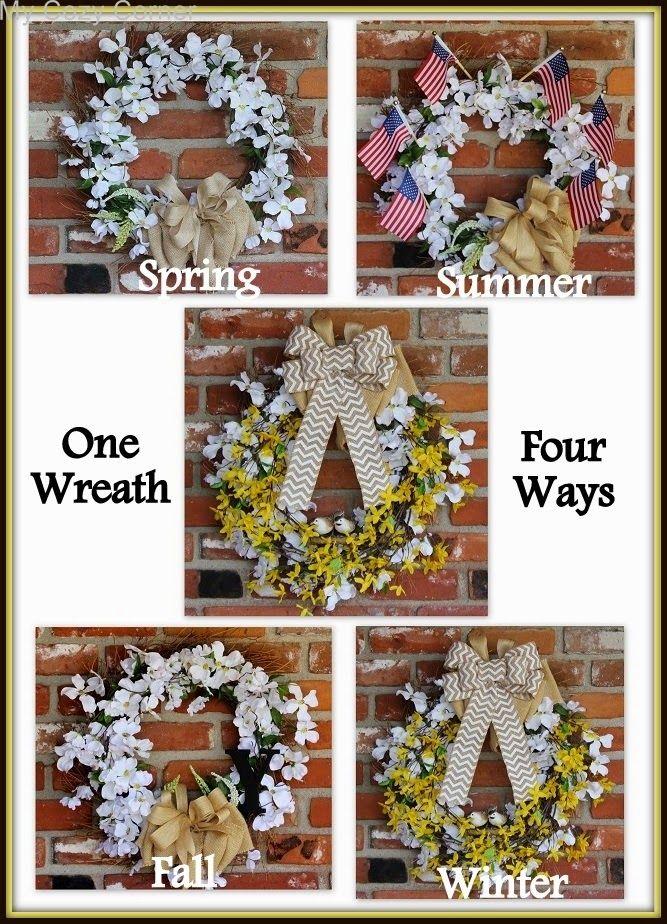 My Cozy Corner: Winter Wreath~Four Ways