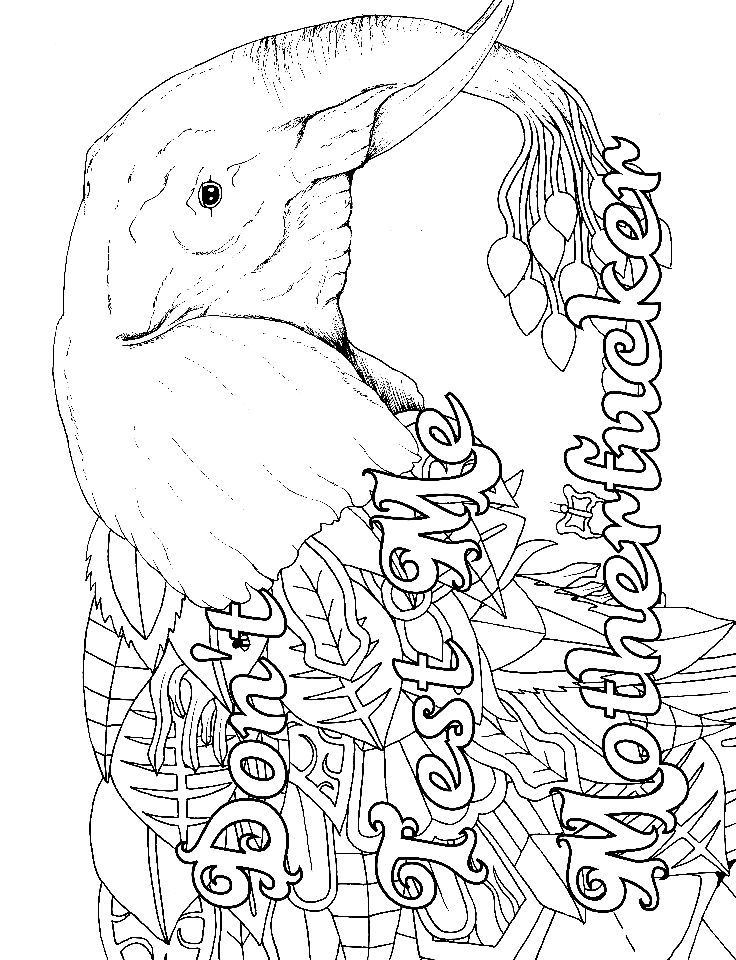 Check out these swear word coloring pages and books, just