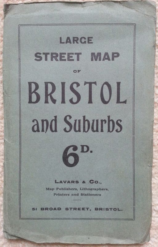 Large Street Map of Bristol and Suburbs: Lavars & Co , 51
