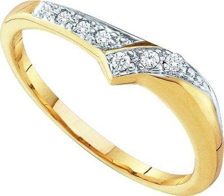 10KT Yellow Gold 0.07CTW DIAMOND FASHION BAND: Rings