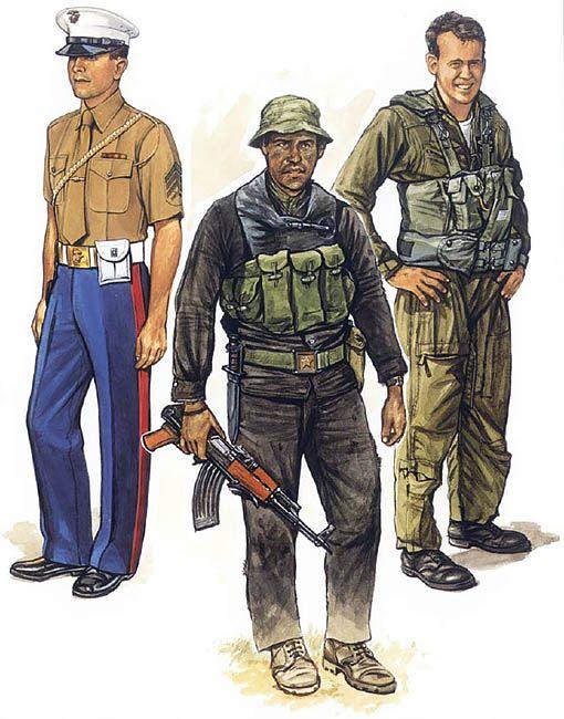 USMC Embassy Guard; Saigon, 1973 \u2022 USMC advisor; MACV-SOG, 1971