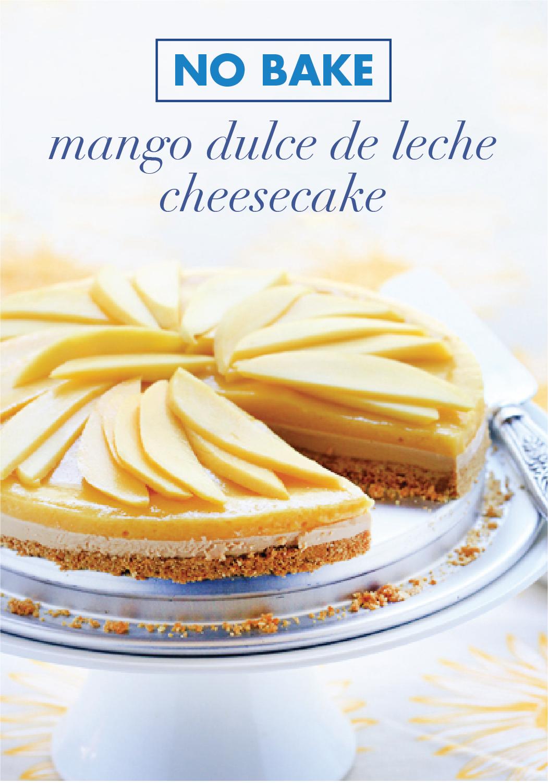 Photo of No Bake Mango Dulce de Leche Cheesecake