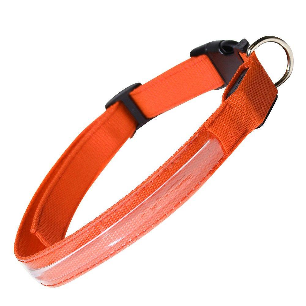 Oxgord Paws & Pals Led Dog Safety Collar Orange XL