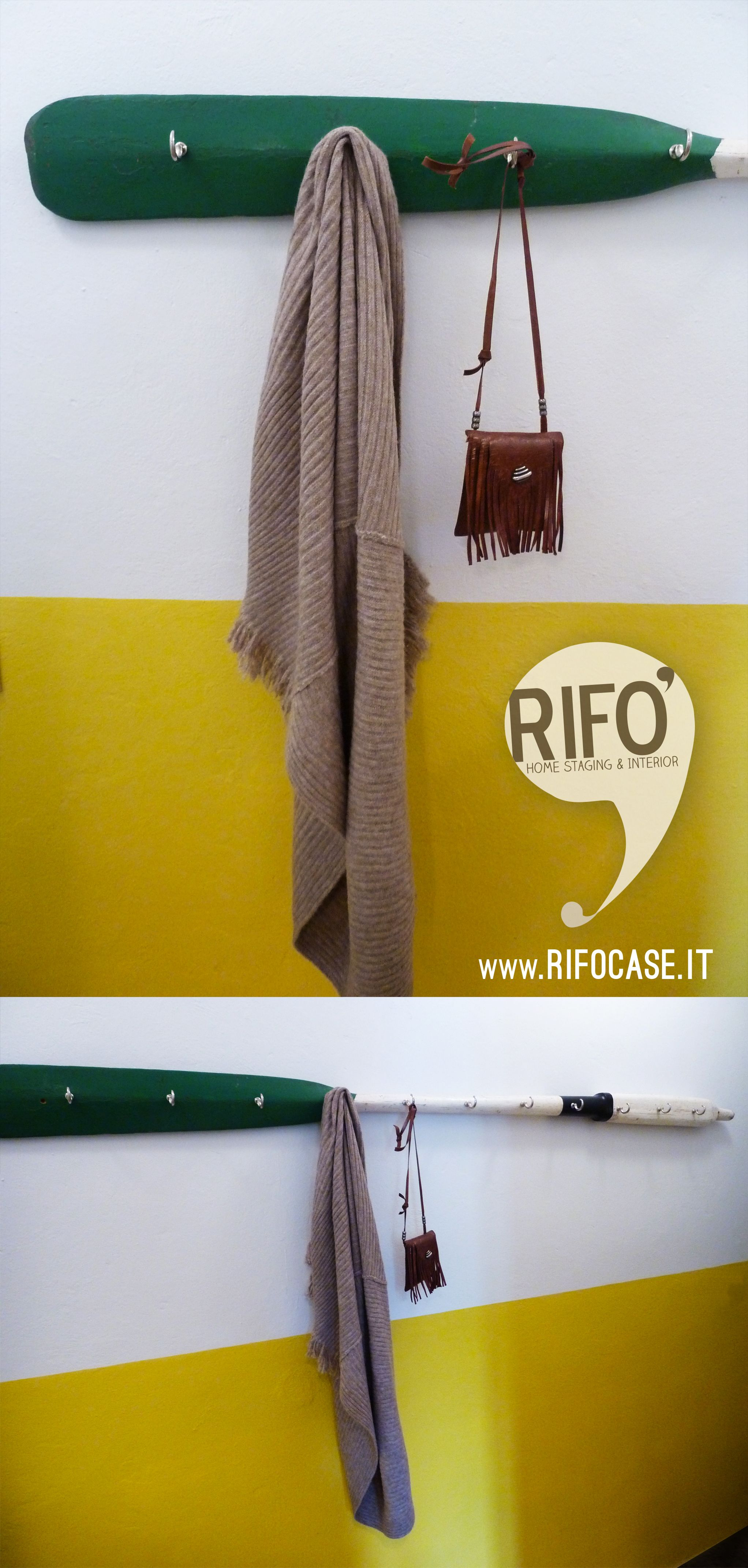 oar boat restyling hang- wall color white yellow | D.I.Y by RIFO ...