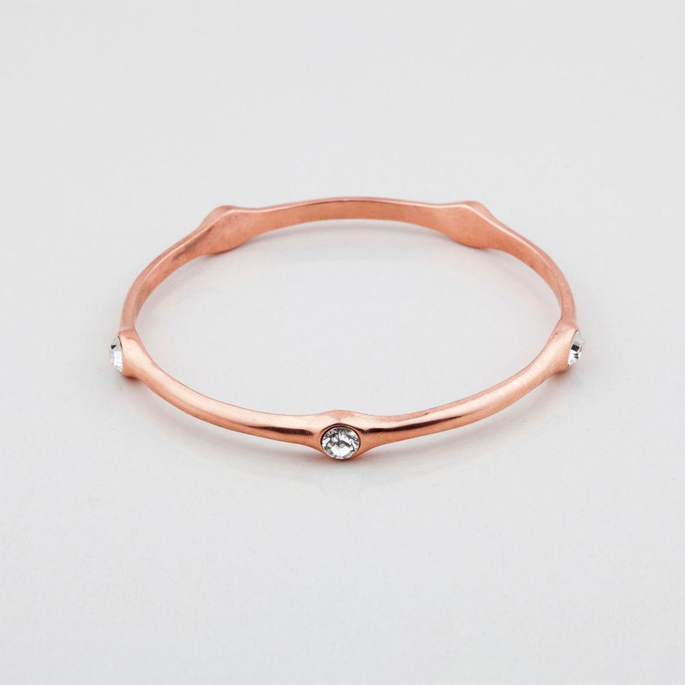 Miglio designer jewellery rose gold bangle with classic swarovski