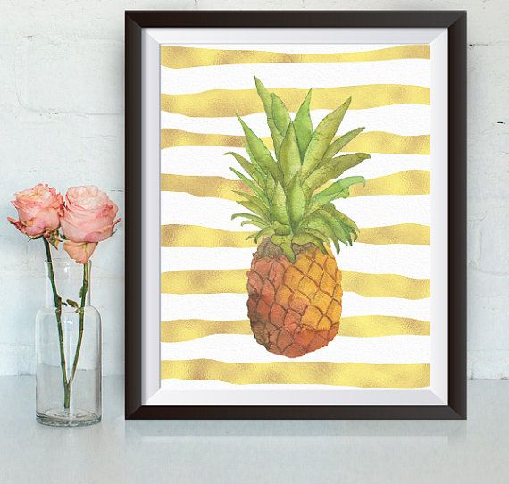 Buy One Get One, Pineapple, 8x10 or 11x14 Art Print, Kitchen Print ...
